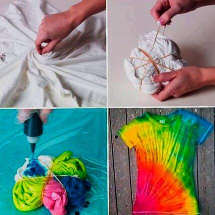 Как сделать футболку / одежду Tie Dye своими руками